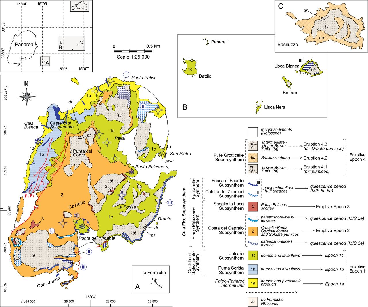 Chapter 12 Geological history of the Panarea volcanic group eastern